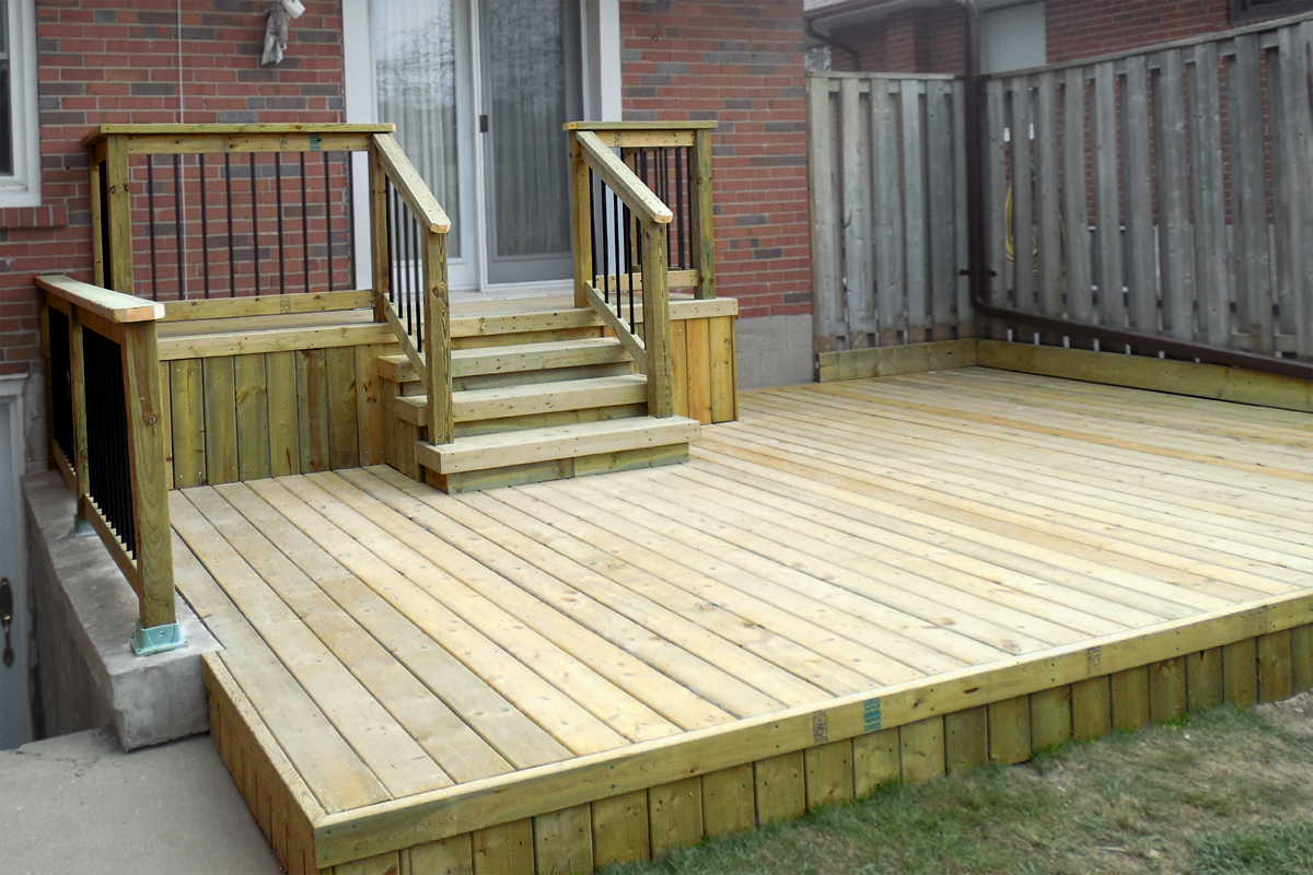 Pressure Treated 2 Level Deck By Deckcellence Deck Builders